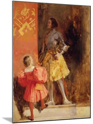 A Knight and Page, C.1826-Richard Parkes Bonington-Mounted Giclee Print