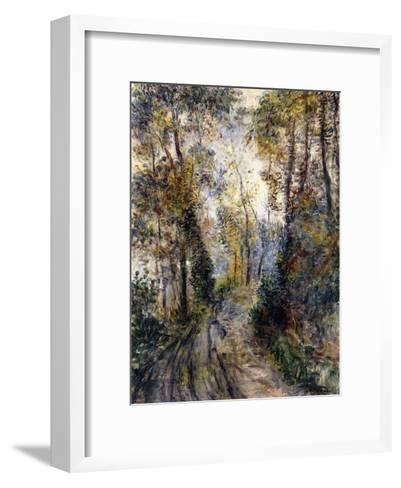 The Forest Path, 1871-Pierre-Auguste Renoir-Framed Art Print