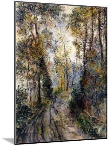 The Forest Path, 1871-Pierre-Auguste Renoir-Mounted Giclee Print