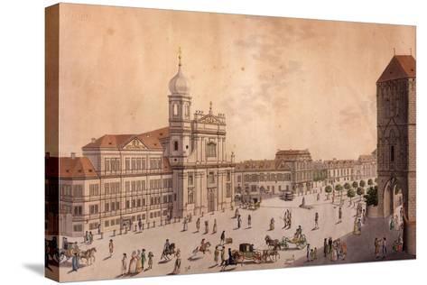 Hybern Square, Prague--Stretched Canvas Print