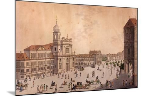 Hybern Square, Prague--Mounted Giclee Print