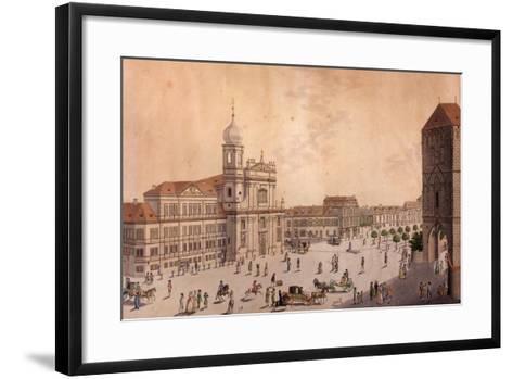 Hybern Square, Prague--Framed Art Print