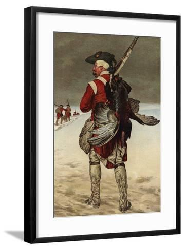 Soldier Carrying a Turkey--Framed Art Print