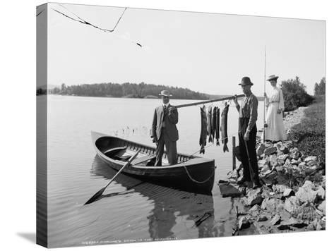A Morning's Catch in the Adirondacks, C.1903--Stretched Canvas Print