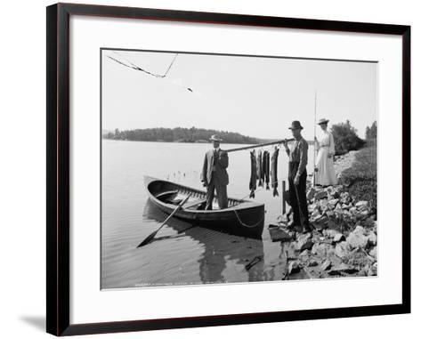A Morning's Catch in the Adirondacks, C.1903--Framed Art Print
