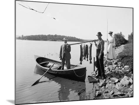 A Morning's Catch in the Adirondacks, C.1903--Mounted Photographic Print