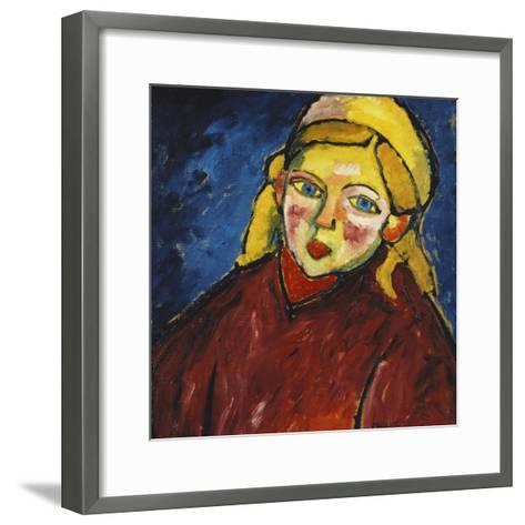 Child with Blue Eyes; Kind Mit Blauen Augen, 1912-Alexej Von Jawlensky-Framed Art Print