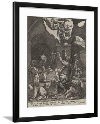Daniel in the Lions' Den--Framed Art Print