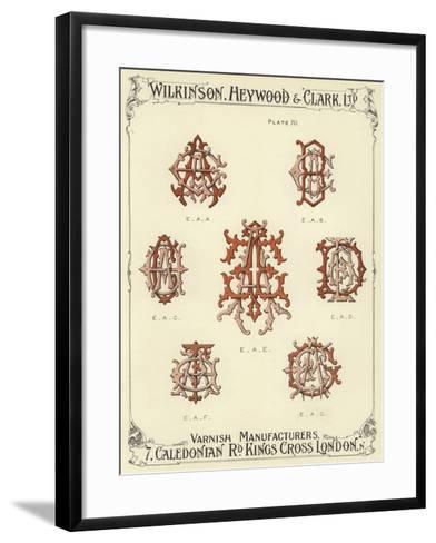 EAA, EAB, EAC, EAE, EAD, EAF, EAG--Framed Art Print