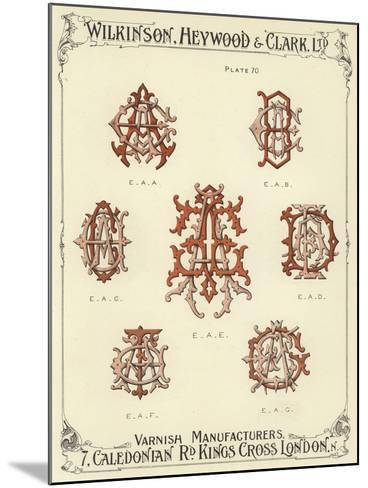 EAA, EAB, EAC, EAE, EAD, EAF, EAG--Mounted Giclee Print