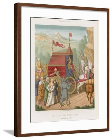 The Captive Tribes of Israel--Framed Art Print