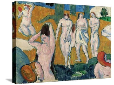 Bathers, 1889-Emile Bernard-Stretched Canvas Print