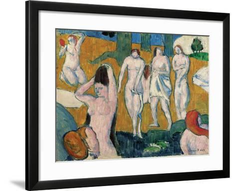 Bathers, 1889-Emile Bernard-Framed Art Print