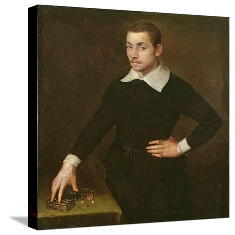 Portrait of a Young Florentine Goldsmith-Agnolo Bronzino-Stretched Canvas Print