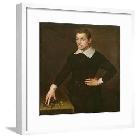 Portrait of a Young Florentine Goldsmith-Agnolo Bronzino-Framed Art Print