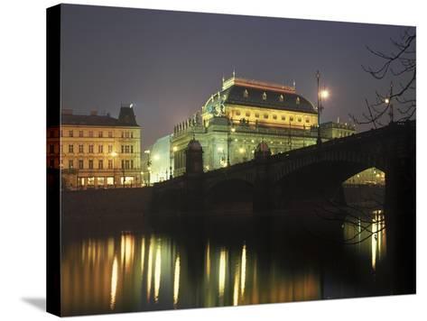 National Theatre, Prague, Czech Republic--Stretched Canvas Print