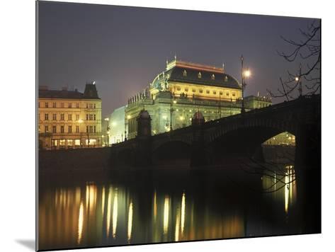 National Theatre, Prague, Czech Republic--Mounted Photographic Print