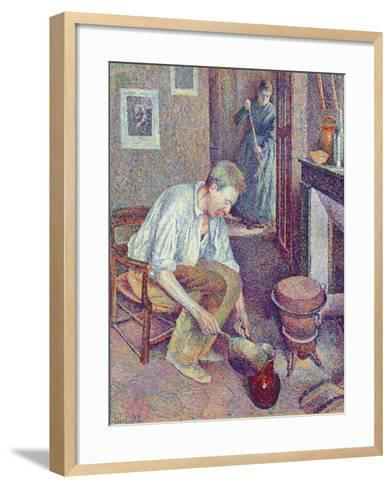 The Coffee, 1892-Maximilien Luce-Framed Art Print