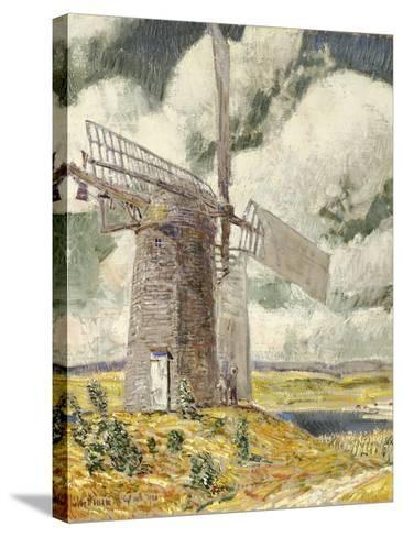 Bending Sail on the Old Mill, 1920-Childe Hassam-Stretched Canvas Print