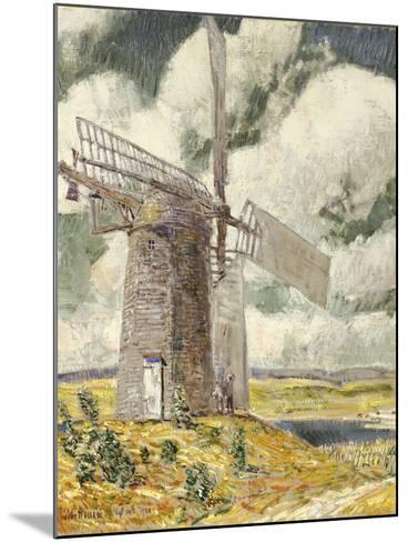 Bending Sail on the Old Mill, 1920-Childe Hassam-Mounted Giclee Print