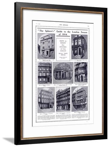 Ducal Houses of London, 1914--Framed Art Print
