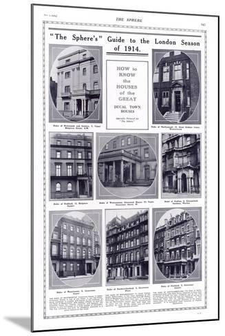 Ducal Houses of London, 1914--Mounted Photographic Print