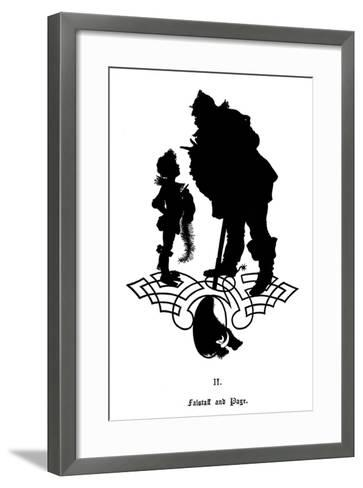 Falstaff and His Page-Paul Konewka-Framed Art Print