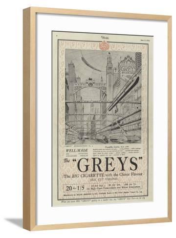 Advertisement for Greys Cigarettes--Framed Art Print