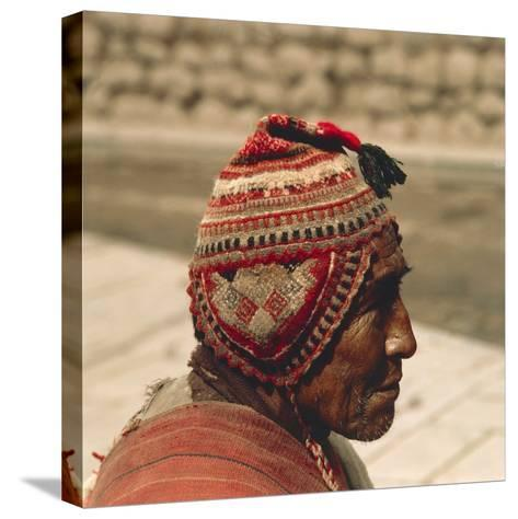 Man Wearing a Chullo, 20th Century--Stretched Canvas Print