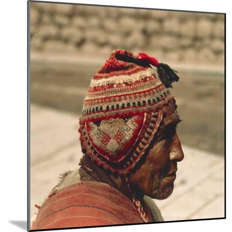 Man Wearing a Chullo, 20th Century--Mounted Photographic Print