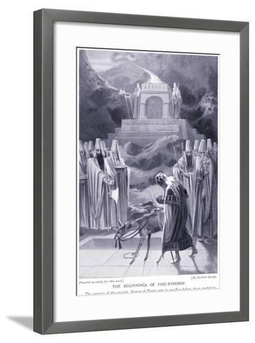 The Beginnings of Fire-Worship-Herbert Gandy-Framed Art Print