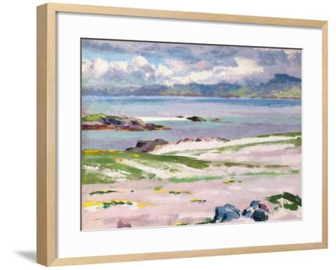 Towards Mull from Choc Ard Anraidh, Iona, C.1928-Francis Campbell Boileau Cadell-Framed Art Print