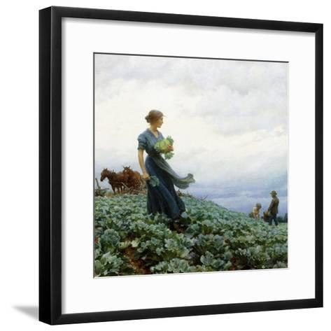 The Cabbage Field, 1914-Charles Courtney Curran-Framed Art Print