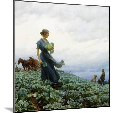 The Cabbage Field, 1914-Charles Courtney Curran-Mounted Giclee Print