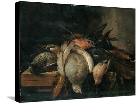 Dead Birds on a Ledge, 1651-Cornelis van Lelienbergh-Stretched Canvas Print