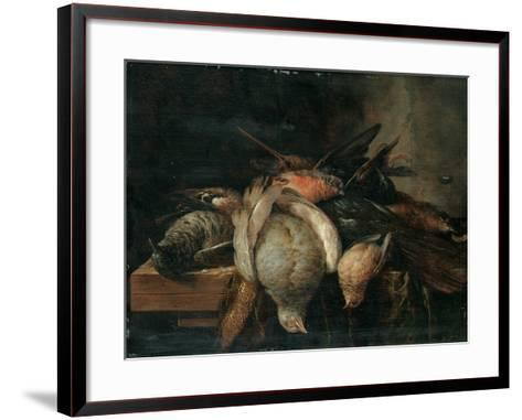 Dead Birds on a Ledge, 1651-Cornelis van Lelienbergh-Framed Art Print