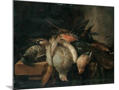 Dead Birds on a Ledge, 1651-Cornelis van Lelienbergh-Mounted Giclee Print
