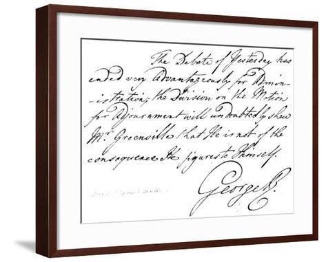 George III of England, B 1738, D 1820--Framed Art Print