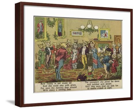 Tabby's Party--Framed Art Print