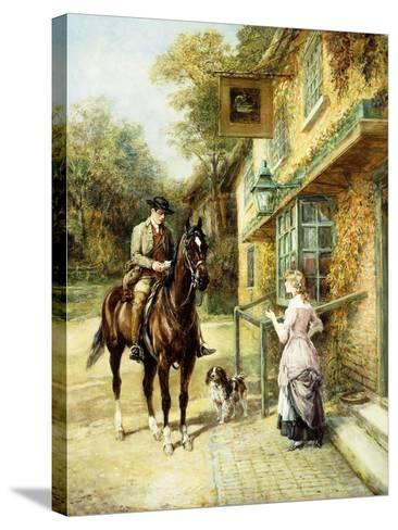 The Village Postman-Heywood Hardy-Stretched Canvas Print