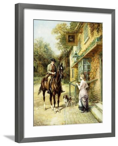 The Village Postman-Heywood Hardy-Framed Art Print