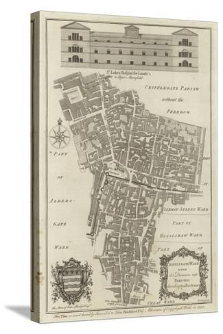Map of Cripplegate Ward, London--Stretched Canvas Print
