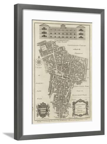 Map of Cripplegate Ward, London--Framed Art Print