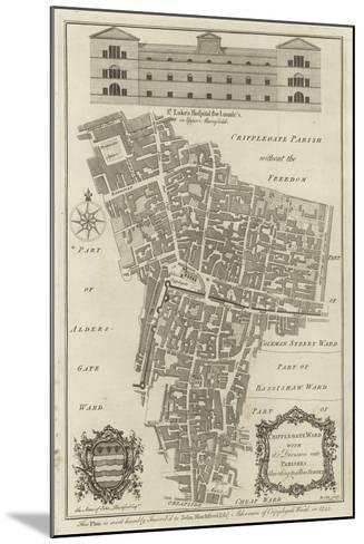 Map of Cripplegate Ward, London--Mounted Giclee Print