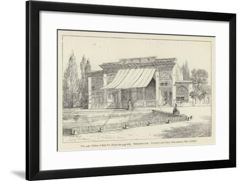 Palace of Bash No, Shiraz, Perspective View--Framed Art Print