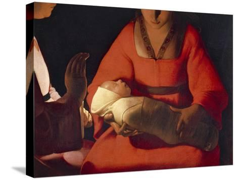 Newborn, 1645-1648-Georges de La Tour-Stretched Canvas Print