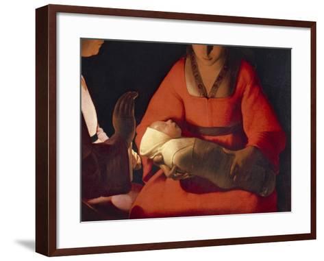 Newborn, 1645-1648-Georges de La Tour-Framed Art Print