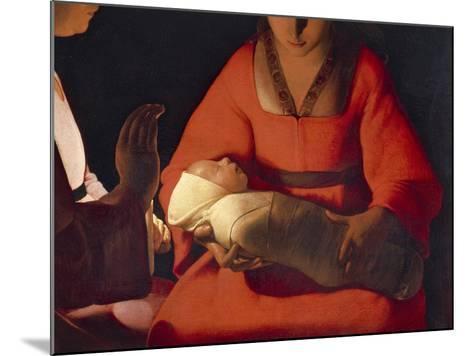 Newborn, 1645-1648-Georges de La Tour-Mounted Giclee Print