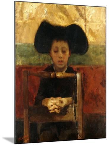 Altar Boy Praying, C.1865-1875-Antonio Mancini-Mounted Giclee Print