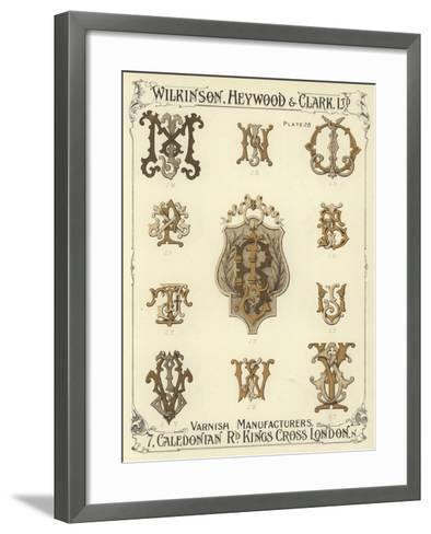 JM, JN, JO, JP, JR, JS, JT, JU, JV, JW, JY--Framed Art Print
